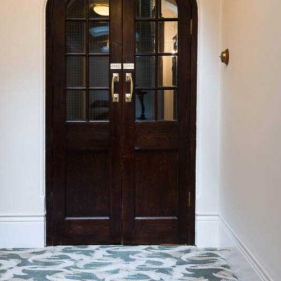 Heavy wearing carpet for Eaton Mansions. Commercial areas carpet for corridors and stair cases. Bespoke design. Common parts projects
